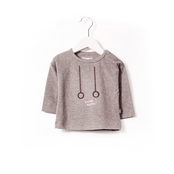 Imps & Elfs long sleeve t-shirt Swing Along in dark grey