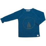 Ebbe long sleeve t-shirt boat in nordic blue