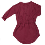 Ebbe dress Amelie in dark red chili