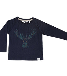 Ebbe long sleeve t-shirt Ivo in reindeer blue