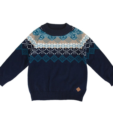 Ebbe sweater Marius in navy and green
