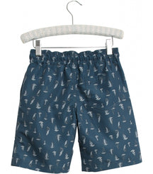 Wheat swim trunks Hansi with boat print