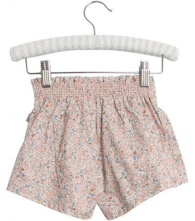 Wheat shorts Alvira in rose flowers