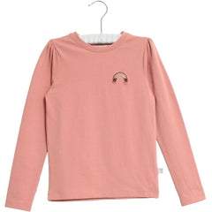 Wheat long sleeve t-shirt Rainbow embroidery