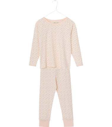 MINI A TURE girls pyjama set Yasmine in creme de peche