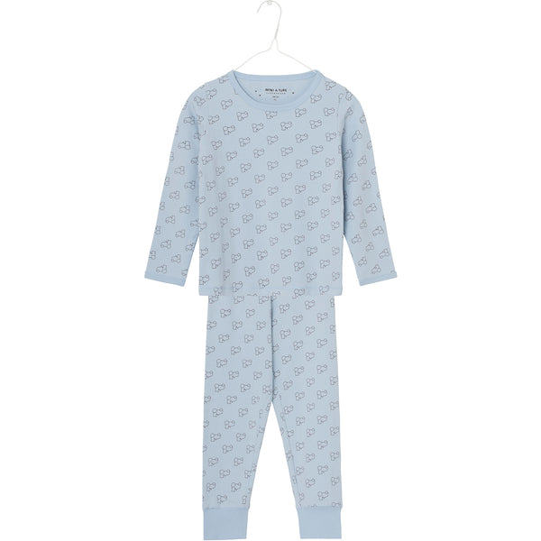 MINI A TURE boys pyjama set Young in light blue