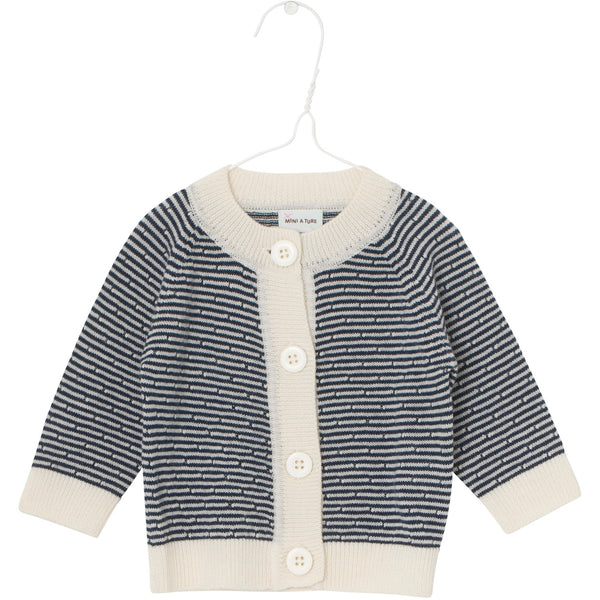 MINI A TURE cardigan Ursul in sky captain blue