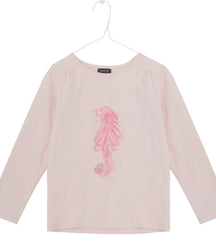 MINI Q TURE long sleeve t-shirt pink cat
