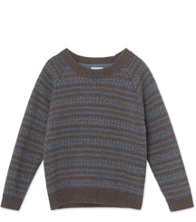 MINI A TURE jumper Timo in brown and blue