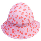 Petit Crabe swim hat Frey in cherry pink