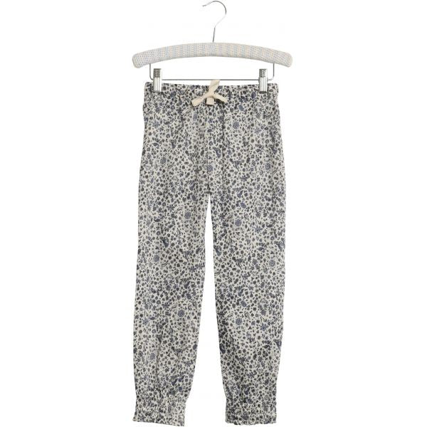 Wheat trousers Elsine in blue bird print