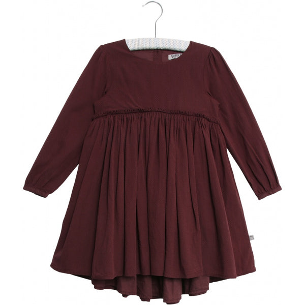 Wheat dress Magda in burgundy