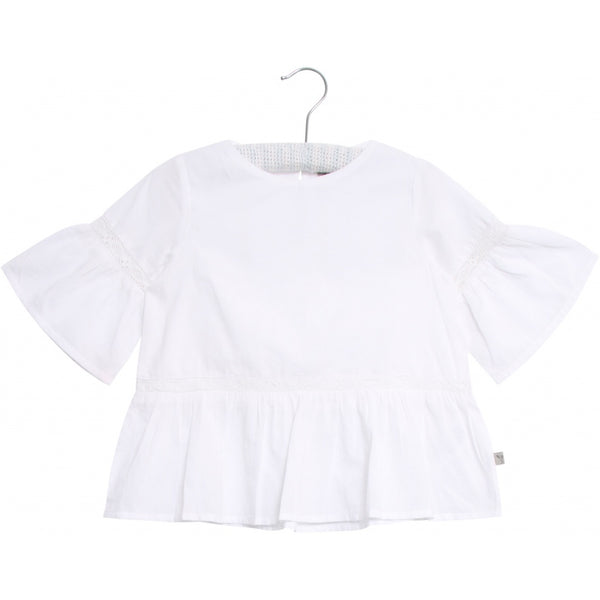 Wheat blouse Sia in white