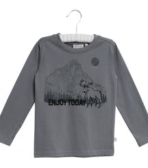 Wheat long sleeve t-shirt Mountain