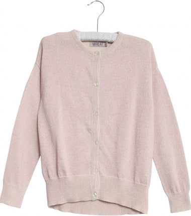 Wheat knit cardigan Dora in ivory