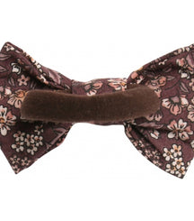 Wheat elastic bow Alba in pink