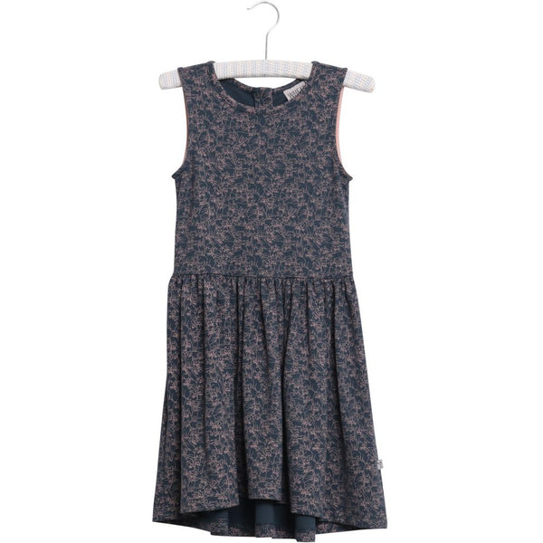 Wheat dress Maribel in midnight navy