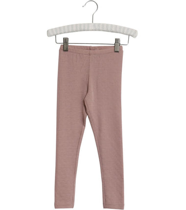 Wheat merino wool leggings in fawn pink