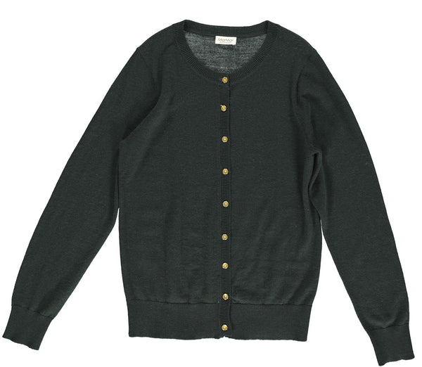 MarMar Copenhagen merino wool cardigan in dark leaf green