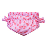 Petit Crabe swimming nappies for babies with loop in the side seam in cherries