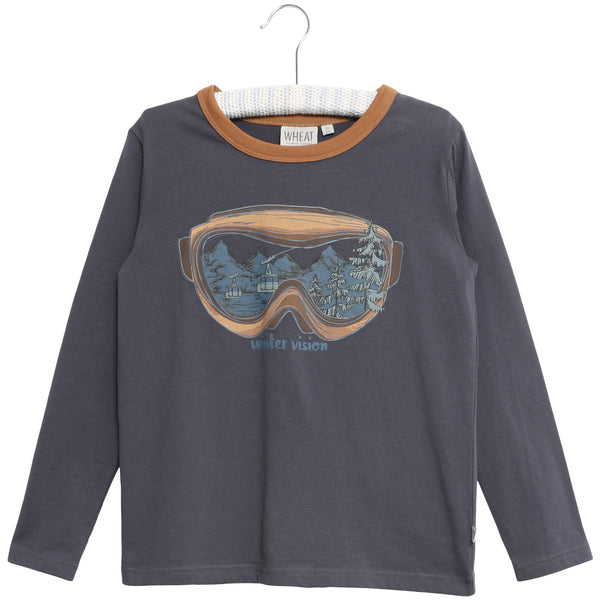 Wheat long sleeve t-shirt Winter Vision in grey blue