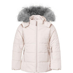 Ver de Terre girls winter jacket in rose powder