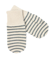 FUB mittens in ecru and grey