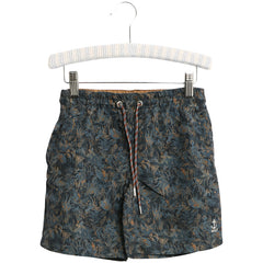 Wheat swim trunks Hansi with deep ocean colour