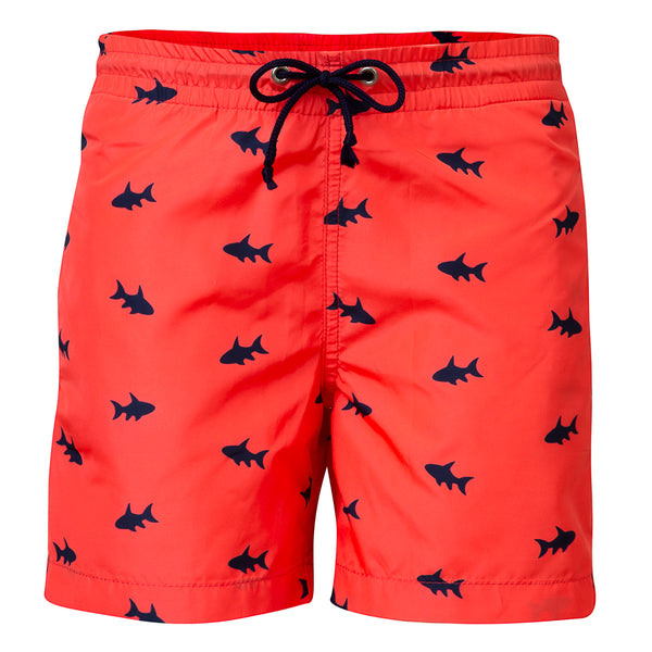 Petit Crabe swim shorts Boardie in neon fish