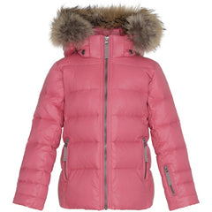 Ver de Terre featherlight girls jacket in Confetti pink