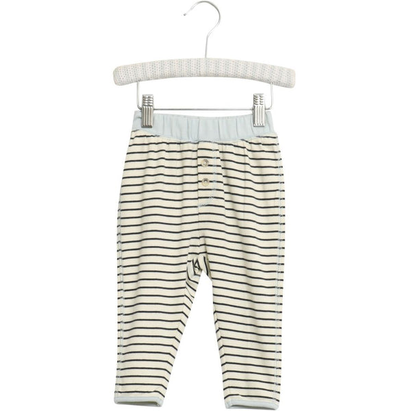 Wheat granddad sweatpants in navy stripes