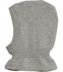 Wheat knitted balaclava in melange grey