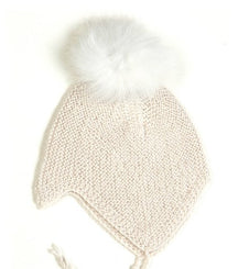 Huttelihut baby hat in off white