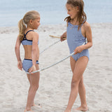 Petit Crabe bikinis in pencil stripes