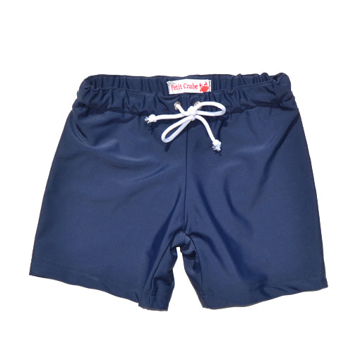 Petit Crabe swim shorts in navy blue