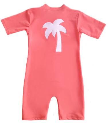 Petit Crabe body suit in flamingo