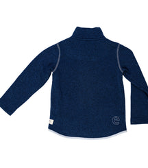 Ebbe knitted fleece Dash in dark navy