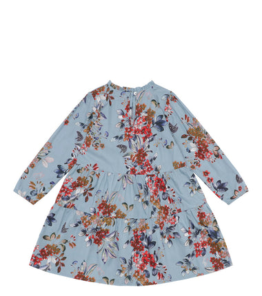 Christina Rohde dress with long sleeves in a blue flower print
