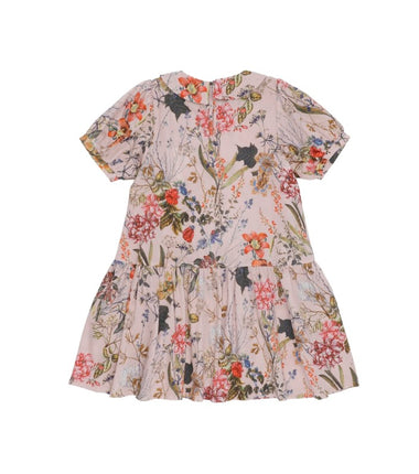 Christina Rohde dress with Peter Pan collar in pink flowers