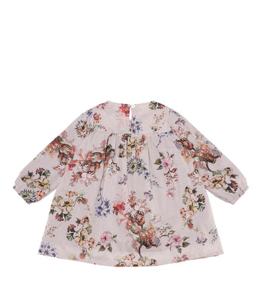Christina Rohde dress with long sleeves in pink flower print