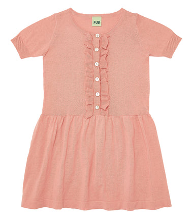 FUB dress with frills in pink