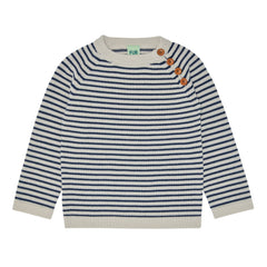 FUB wool striped jumper in ecru and navy
