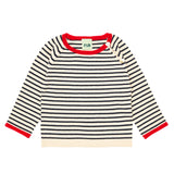 FUB striped sweater in ecru and navy