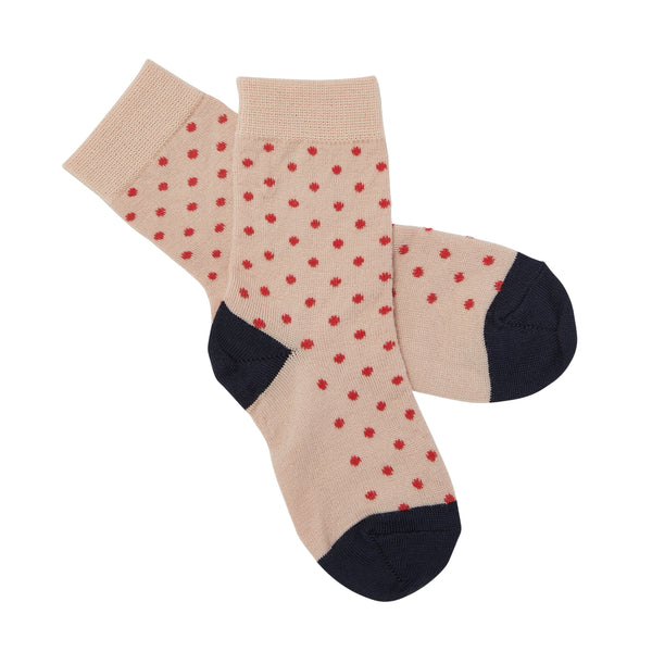 FUB woollen socks in blush and red