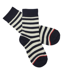 FUB woollen socks in ecru and navy