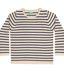 FUB classic woollen jumper in ecru and navy stripes