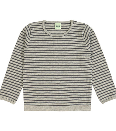 Fub cotton knit jumper in light grey and grey