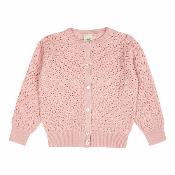 FUB cardigan Pointelle in pink