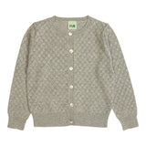 FUB cardigan Pointelle in light grey