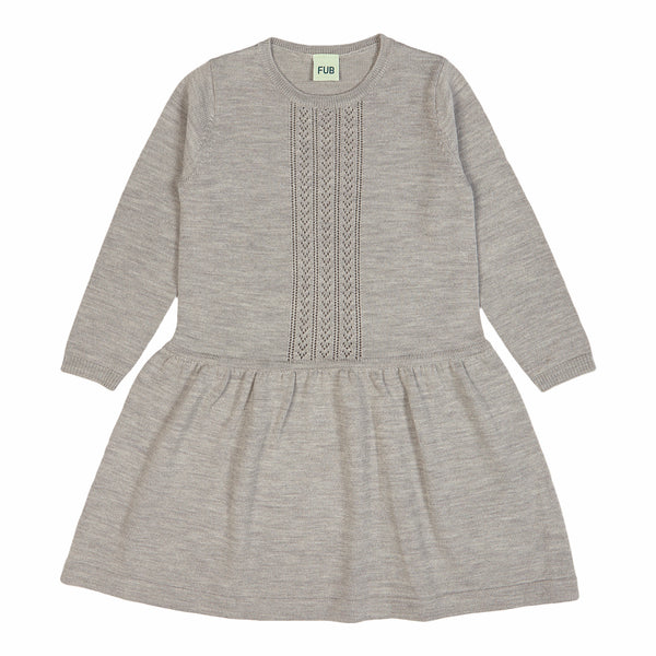 FUB dress Pointelle in light grey